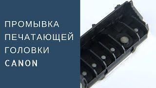 Промывка печатающей головки Canon. Метод прокапывание.