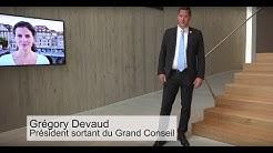 Visite du Parlement vaudois par Grégory Devaud