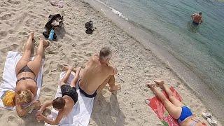 Чёрное море жара Бархатный сезон октябрь 2021 Кабардинка пляж Геленджик Огромные пробки на Таврида-2
