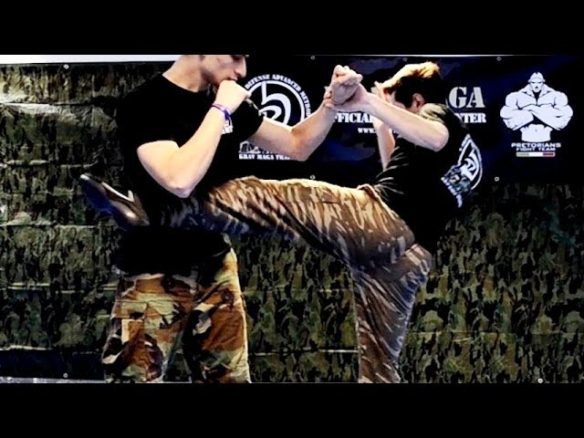 KRAV MAGA TRAINING • Realistic Round Kicks for real fights