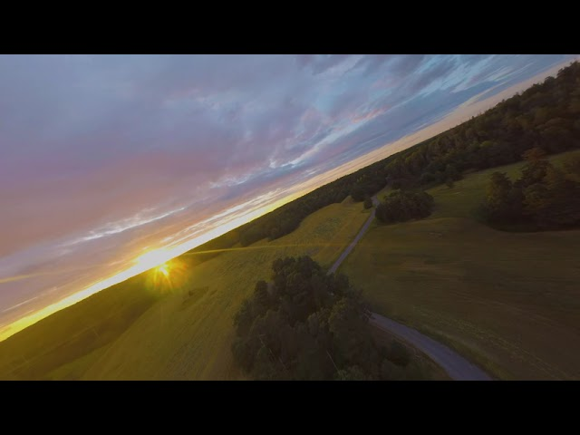 Testar ny VTX lite i solnedgången