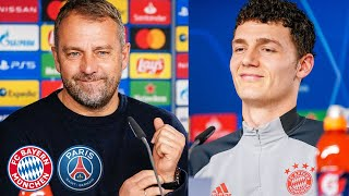 🎙️ Top match against Neymar, Mbappé & Co.! Press Conference with Pavard & Flick ahead of #FCBPSG