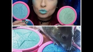 mint condition and deep freeze swatch and review   skin frost   jeffree star cosmetics