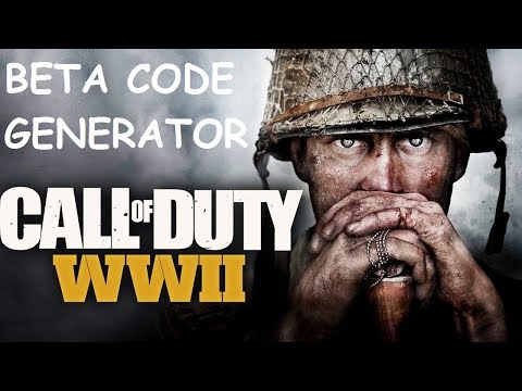 THE NEW CALL OF DUTY WWII BETA CODE GENERATOR!!!
