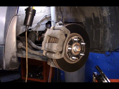How to replace the front brakes and rotors 2011 Hyundai Sonata
