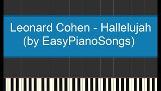 Hallelujah (Leonard Cohen) - easy piano cover Synthesia + DOWNLOAD MIDI and SHEET