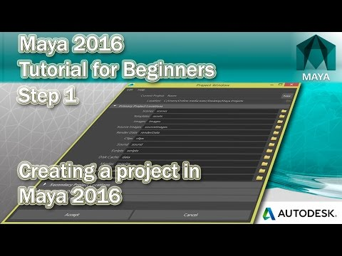 #1 How to create a project in Maya 2016