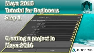 1 how to create a project in maya 2016
