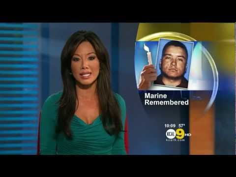 Sharon Tay 2012/02/10 KCAL9 HD; Teal dress
