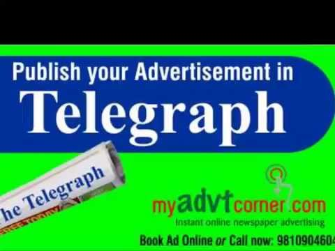 The Telegraph Classified Advertising Rates, Rate Card and Tariff Online for Matrimonial