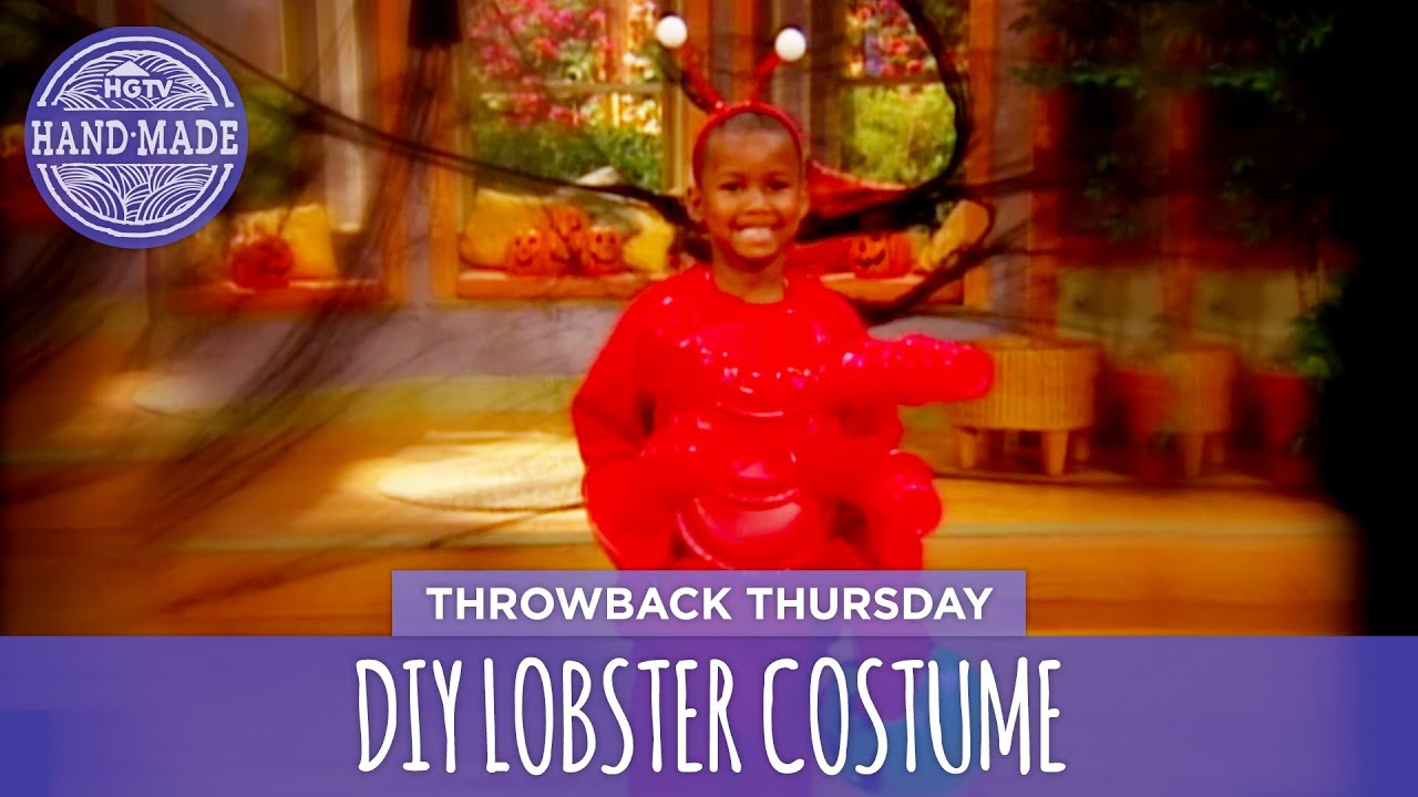 Diy lobster costume throwback thursday hgtv handmade youtube diy lobster costume throwback thursday hgtv handmade solutioingenieria