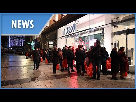 Boxing Day sales sparked huge queues from midnight as shoppers hunt for the perfect bargain