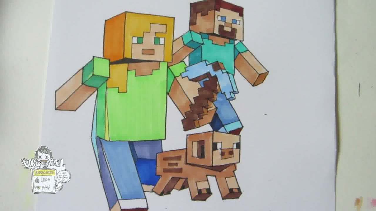 How To Draw Minecraft Characters (no Ruler!)