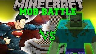 MUTANT ZOMBIE VS SUPERMAN - Minecraft Mod Battle - Mob Battles - Superheroes and Mutant Zombie Mods