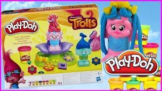 Play Doh Trolle 🌈 Salon fryzjerski ✂✂ Kolorowe fryzury 🌈