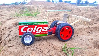 RC car How to Make Electric RC Tractor colgate at home