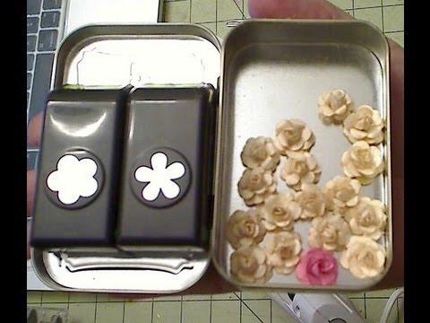 pettite roses using EK sucess mini 5 petal flower punch