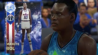 SAPPHIRE MANUTE BOL 7 FOOT 7 INSANE GAMEPLAY!! PACK & PLAYOFFS REWARD! (NBA 2K18 MYTEAM)