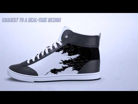 Get a kick out of these sneakers with customizable digital displays