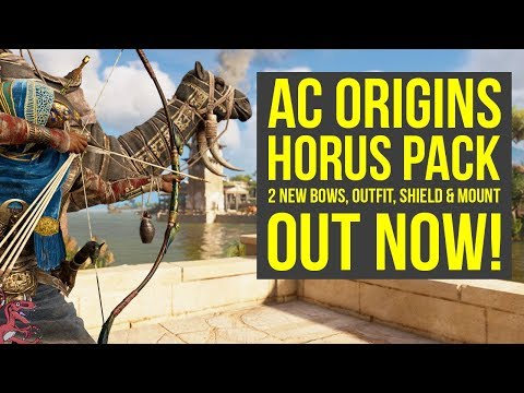 Assassin's Creed Origins DLC 2 NEW AMAZING BOWS, Outfit & Mount OUT NOW! (AC Origins Horus Pack)