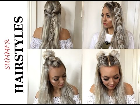 super easy summer hairstyles schnelle und einfache sommer frisuren youtube. Black Bedroom Furniture Sets. Home Design Ideas