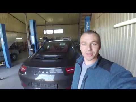 Porsche 911 Carrera S Замена масла в двигателе + фильтра