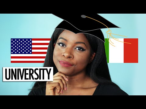 ITALY VS USA   UNIVERSITY (GRADING, CAMPUS LIFE + MORE)