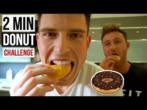 2 MINUTE DONUT CHALLENGE!! | FITNESS Q&A
