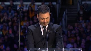 Jimmy Kimmel emotional speech at memorial for Kobe Bryant and Gianna Bryant