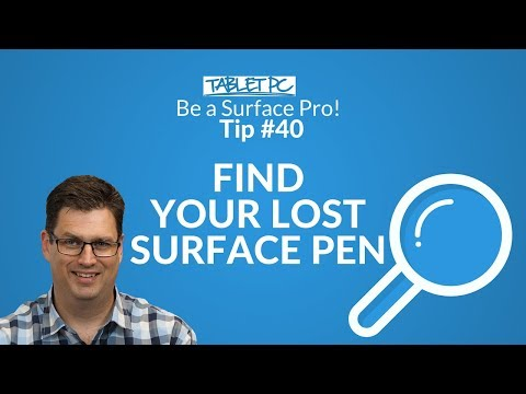 How To Find Your Lost Surface Pen