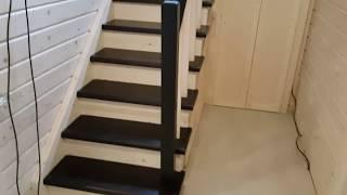 видео Лестницы из сосны