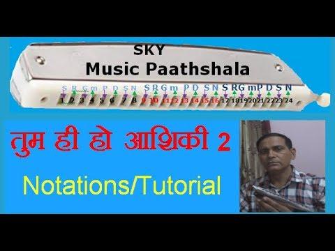 How to play TUM HI HO: Aashiqi 2 on Harmonica/Mouthorgan # tutorial by Sunil Kumar Yadav