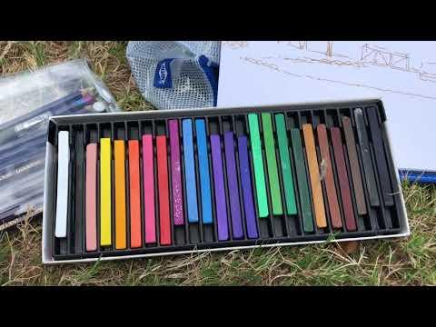 Painting En Plein Air - Felt Tip Pens, Woodless Colored Pencils - Lake Martin, AL