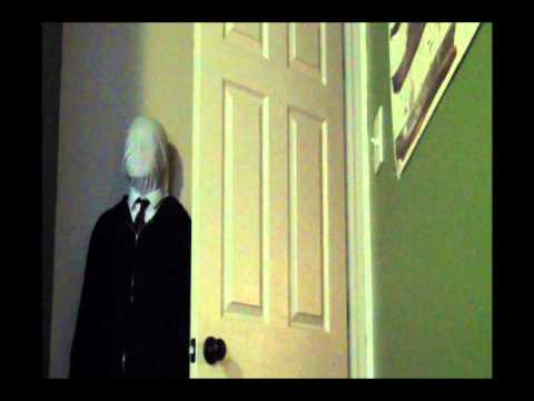 Scary Slenderman prank on my brother!
