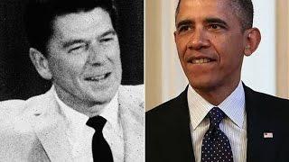 Obama Ties Reagan in Public Opinion Polls