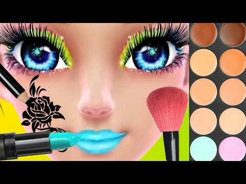 Fun Girl Care Baby Learn Colors Play Makeover Kids & Game Roller Skating Hair Salon Games