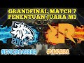 PENENTUAN JUARA!! EVOS VS RRQ GAME 7 GRAND FINAL   M1 MOBILE LEGENDS TOURNAMENT MATCH