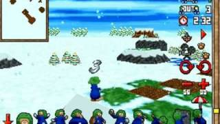 DOS Game: 3D Lemmings Winterland