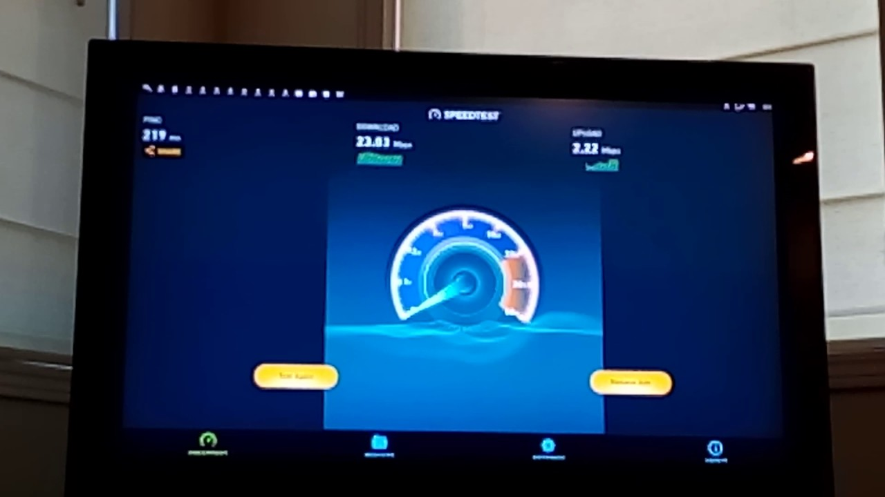 Testing internet speed on Android TV Box