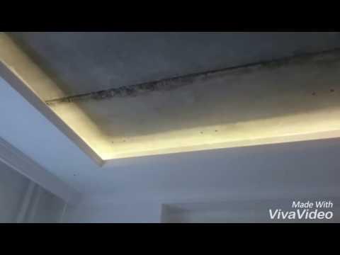 Натяжной потолок вставка в гипсокартон очень сложный монтаж