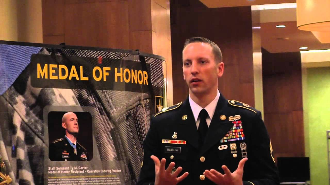 Interview with DA noncommissioned officer of the year, Sgt. 1st Class Jason Manella at the All-American Bowl