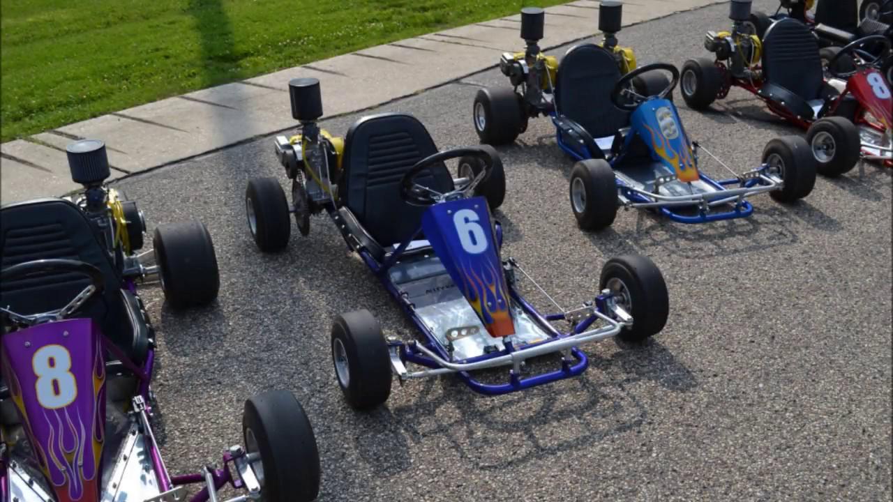 Vintage Racing Go Kart Build - Start of Alley Kat II Stretched Chassis