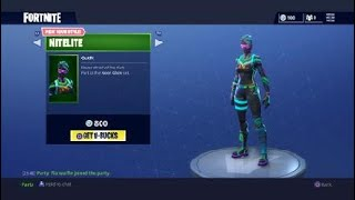 'NEW' NITELITE et LIGHTSHOW SKINS! - Fortnite Battle Royale Saison 4 Daily Item Shop RARE SKINS!