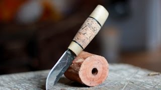 Нож   рукоять из пробки весь процесс(подписываемся на группу в контакте - http://vk.com/kovalyovsartworks второе видео по изготовлению ножа. в видео показан..., 2015-11-09T20:09:44.000Z)