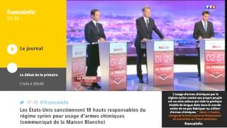 Primaire de la Gauche - premier débat télévisé sur TF1