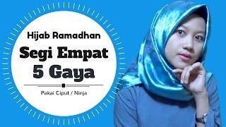 Tutorial Hijab Segi Empat 5 Gaya Super Simpel Menyambut Ramadhan #NMY Hijab Tutorials