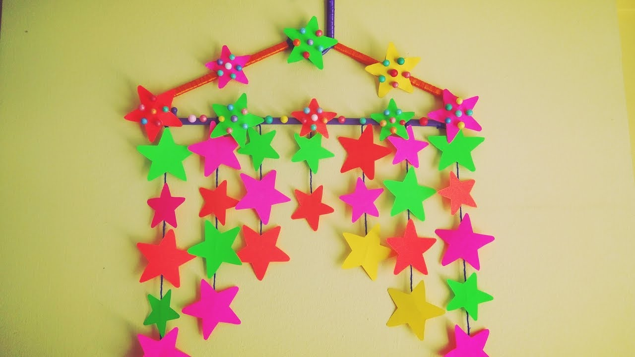 DIY Star Wall Hanging | Wall decoration | Summer craft - YouTube