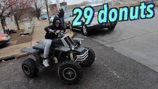 HOW MANY DONUTS CAN HE DO ON A BANSHEE 350 ? (SUPER DIZZY)