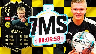 THE WONDERKID!! 86 HÅLAND 7 MINUTE SQUAD BUILDER!! - FIFA 20 ULTIMATE TEAM