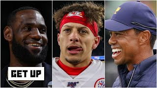 LeBron, Mahomes or Tiger: Who is more likely to catch their rival for most championships? | Get Up